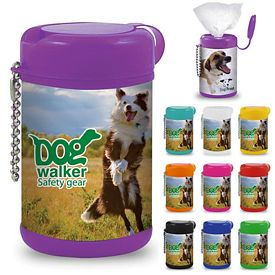 Custom Antibacterial Pet Wipe Canister
