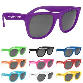 Promotional Vibrant Trim Dark Lens Sunglasses