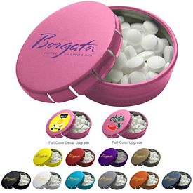 Customized Round Click Tin Mints