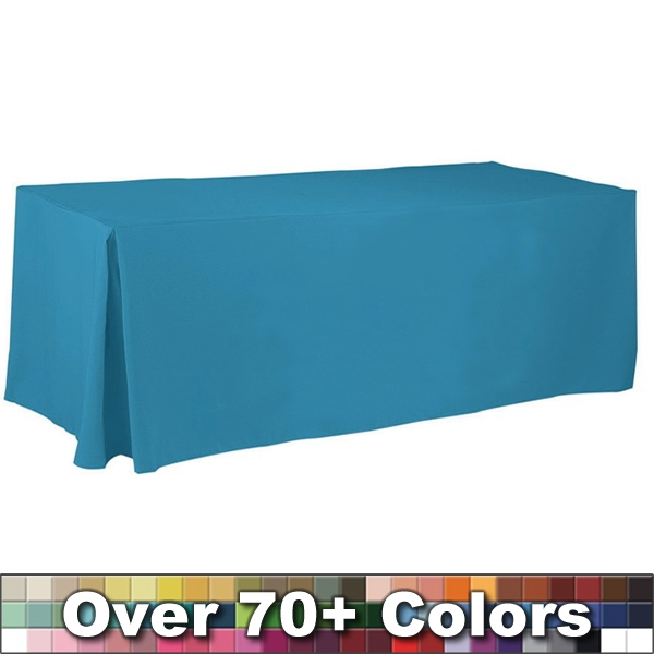 Non Printed 8 Ft Fitted Style Tablecloth With Pleats