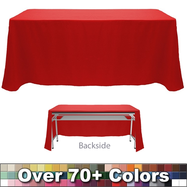 Non Printed 8 Ft Throw Style Tablecloth   Open Back | Trade Show Blank  Tablecloths | Non Printed Blank Tablecloths