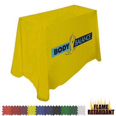 Customized Digital Flame Retardant 4 Ft Throw Style 42-inchH Tablecloth