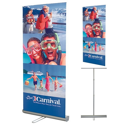 Promotional 33 x 82 Adjustable & Retractable Banner Stand Set