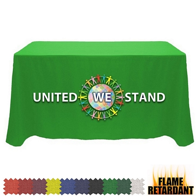 Promotional Digital Flame Retardant 4 Ft Fitted Table Cover