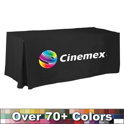 Promotional Digital 8 Ft Fitted Style Tablecloth