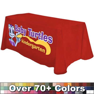 Promotional Digital 4 Ft Table Throw Style Tablecloth
