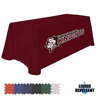 Customized Digital Liquid Repellent 6 Ft Table Throw Style Tablecloth