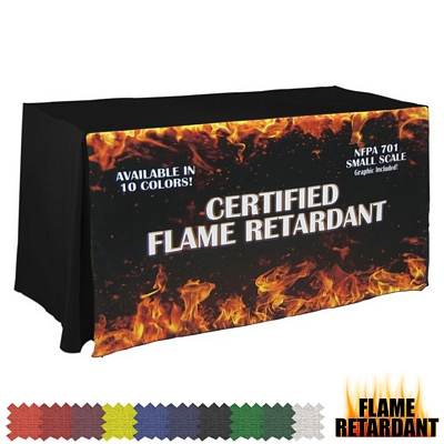 Promotional Digital Flame Retardant 8 Ft Throw Style Tablecloth
