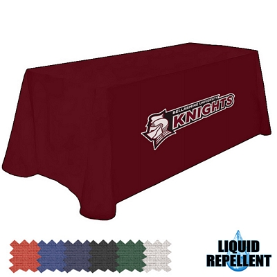 Promotional Digital Liquid Repellent 8 Ft Table Throw Style Tablecloth