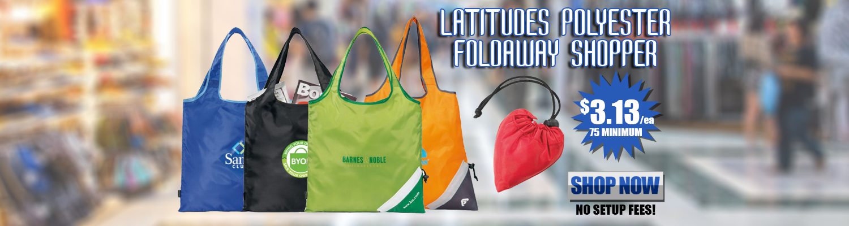 Promotional Latitudes Polyester Foldaway Shopper a04c13046c1a