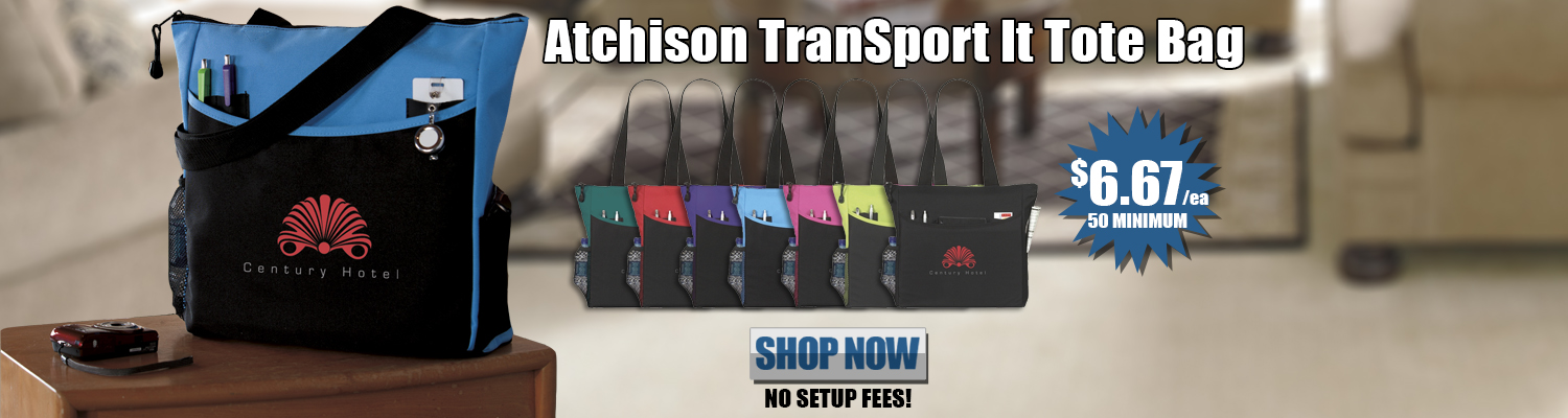 Promotional Atchison TranSport It Tote Bag