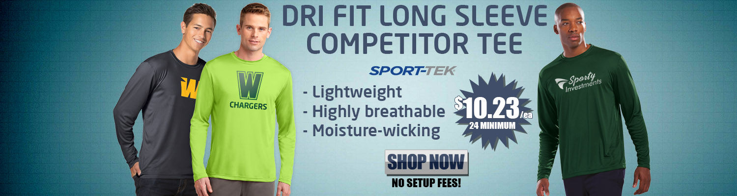 Promotional Dri Fit Long Sleeve Tees