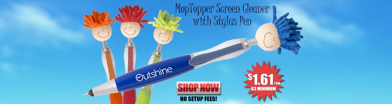 Promotional MopTopper Screen Cleaner with Stylus Pen