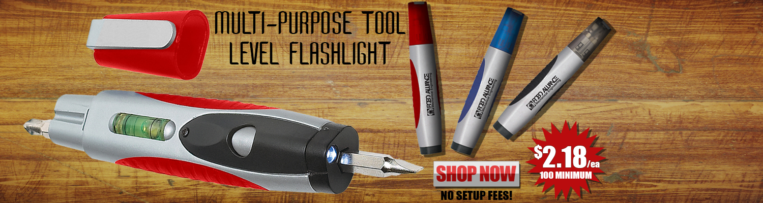 Promotional Multi-Purpose Tool Level Flashlight