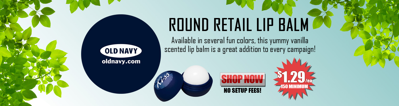 Promotional Round Retail Lip Balm
