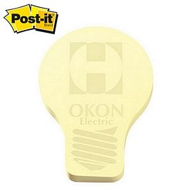 Promotional Post-it Shape Light Bulb Shape Large Sticky Note