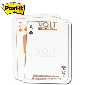 Promotional Post-it Shape Blackjack Playing Cards Shape X-Large Sticky Note