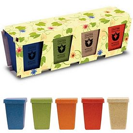Promotional 4 Pack Flower Planter