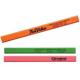 Promotional Fluorescent Finish Carpenter Pencil