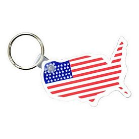 Promotional USA Key Fob with Flag