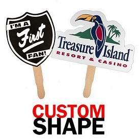 Promotional USA Made Custom Shaped Hand Fan