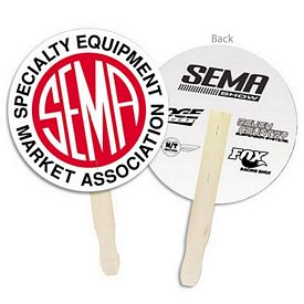 Promotional Circle Shaped Hand Fan