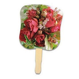 Promotional Stock Design Hand Fan: Flower Bouquet