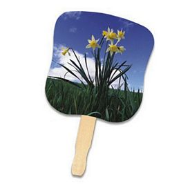 Promotional Stock Design Hand Fan: Daffodils