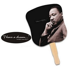 Promotional Stock Design Hand Fan: Dr. Martin Luther King, Jr.