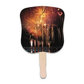 Promotional Stock Design Hand Fan: Fireworks