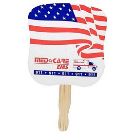 Promotional American Flag Patriotic Hand Fan