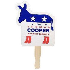 Promotional Democrat Donkey Patriotic Hand Fan