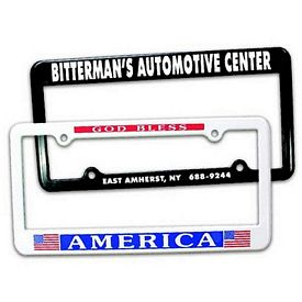 Promotional 2 Holes License Plate Frame