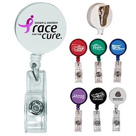 Promotional Round Badge Holder with Clip