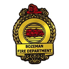Promotional Shiny Gold Fire Badge