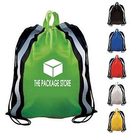 Promotional Non-Woven Reflective Drawstring Backpack