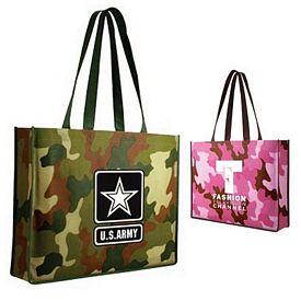 Promotional Non-Woven Camo Tote Bag