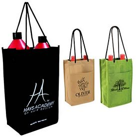 Promotional Non-Woven Double Bottle Wine Bag