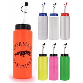 Promotional 32 oz. Sports Bottle with Flexible Straw BPA Free