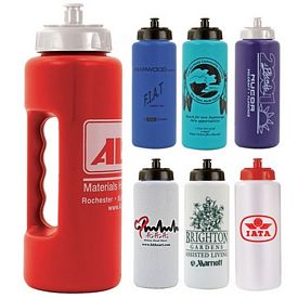 Promotional 32 oz. Grip Water Bottle with Push 'n Pull Cap