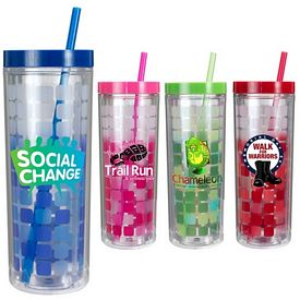 Promotional 16 oz. Mood Cube Straw Tumbler