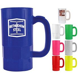 Promotional 14 oz. Plastic Beer Stein