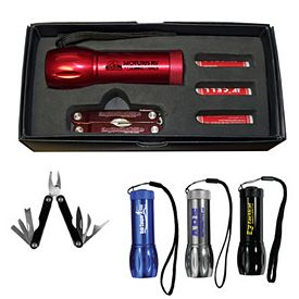 Promotional Mega Might LED Flashlight Multi-Function Tool Gift Set