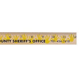 Promotional Handprint Background Rulers Clear Lacquer Finish