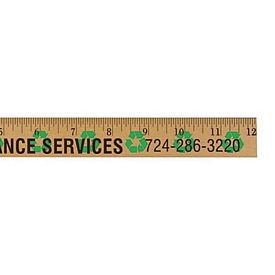 Promotional Recycling Background Rulers Clear Lacquer Finish