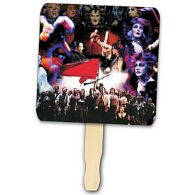 Promotional Square Shape Hand Fan Full Color Digital