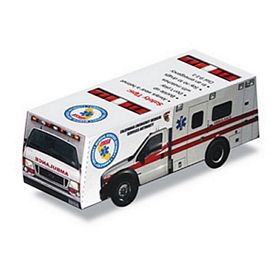Promotional Foldable Die-Cut Ambulance