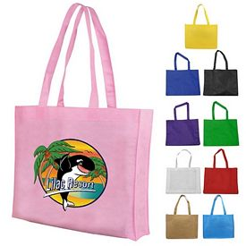 Promotional Non Woven Gusset Tote Bag Full Color Digital