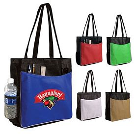 Promotional Non-Woven Business Tote Bag Full Color Digital