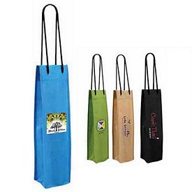 Promotional NonWoven Single Wine Bottle Bag Full Color Digital